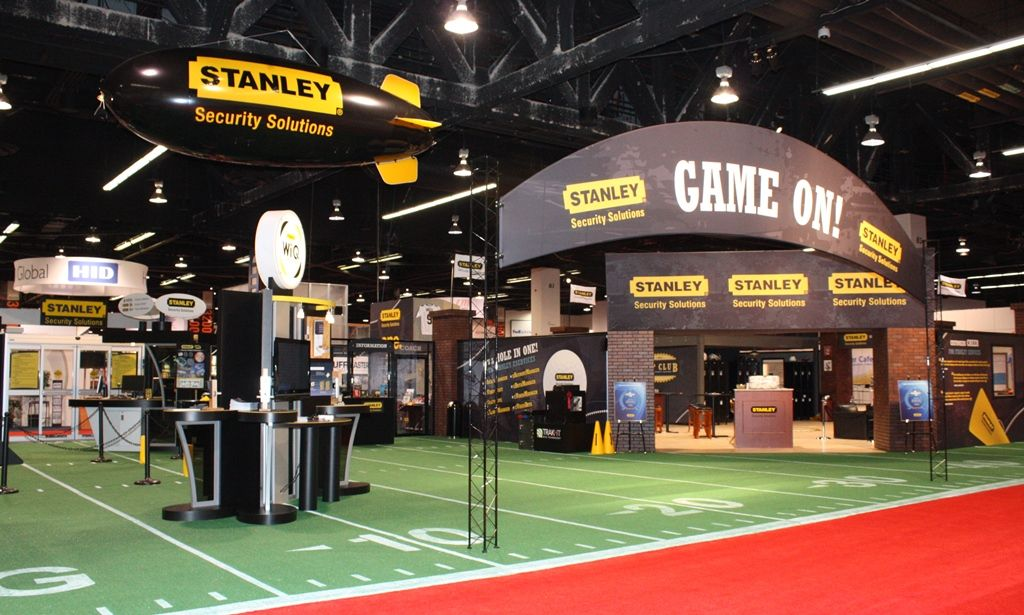 Exhibition Booth Marketing : Stanley s a great football theme trade show booth