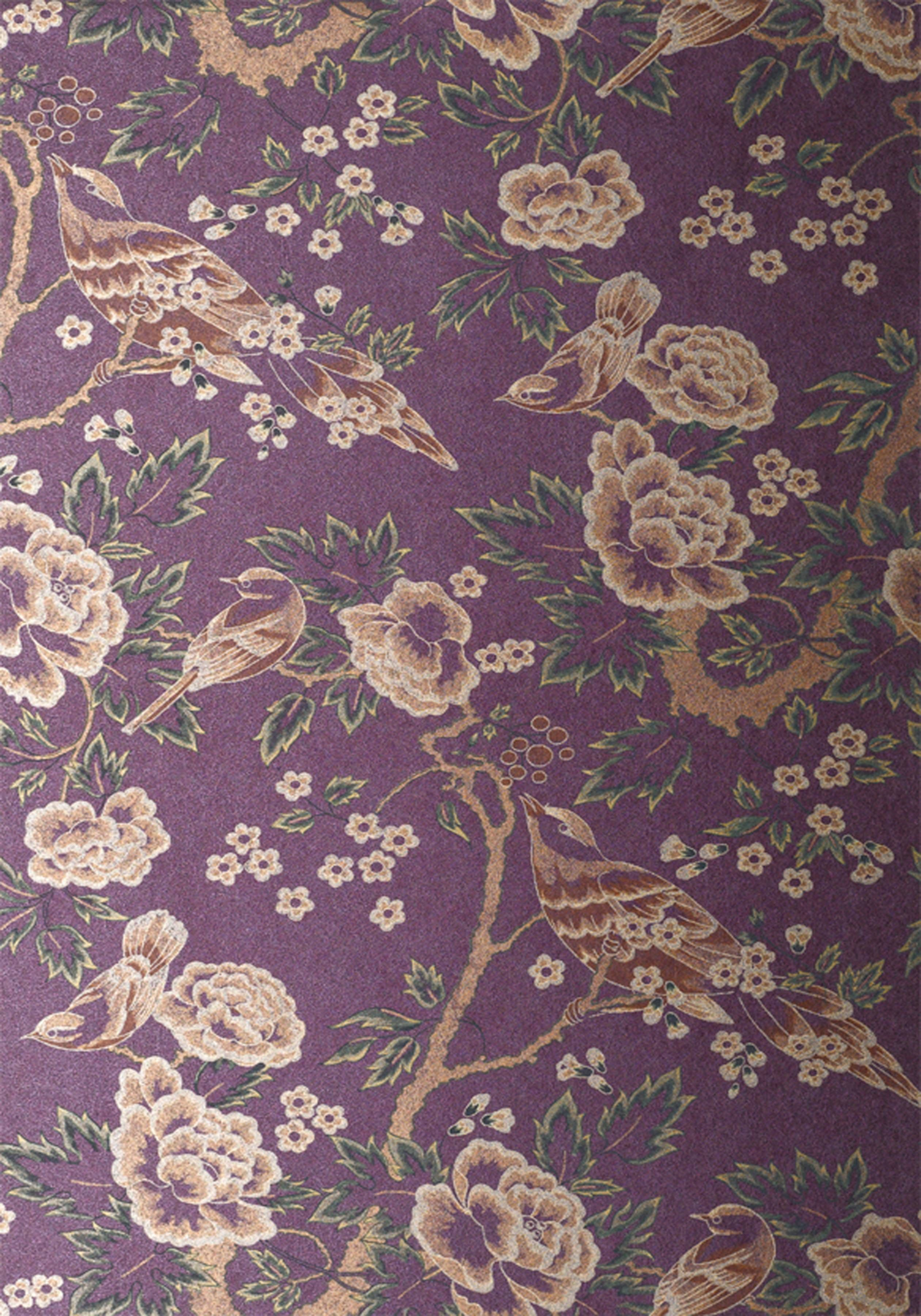 SONGBIRDS, Gold and Purple, AT10113, Collection Wild Flora