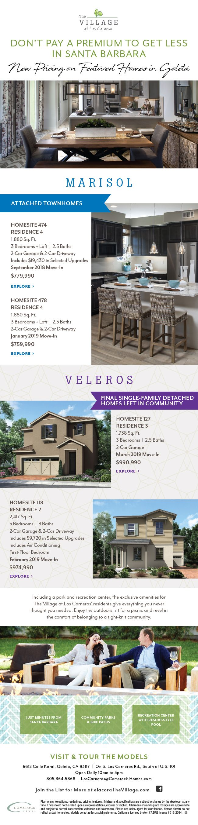 New Homes For Sale In Goleta California New Pricing On New Homes In