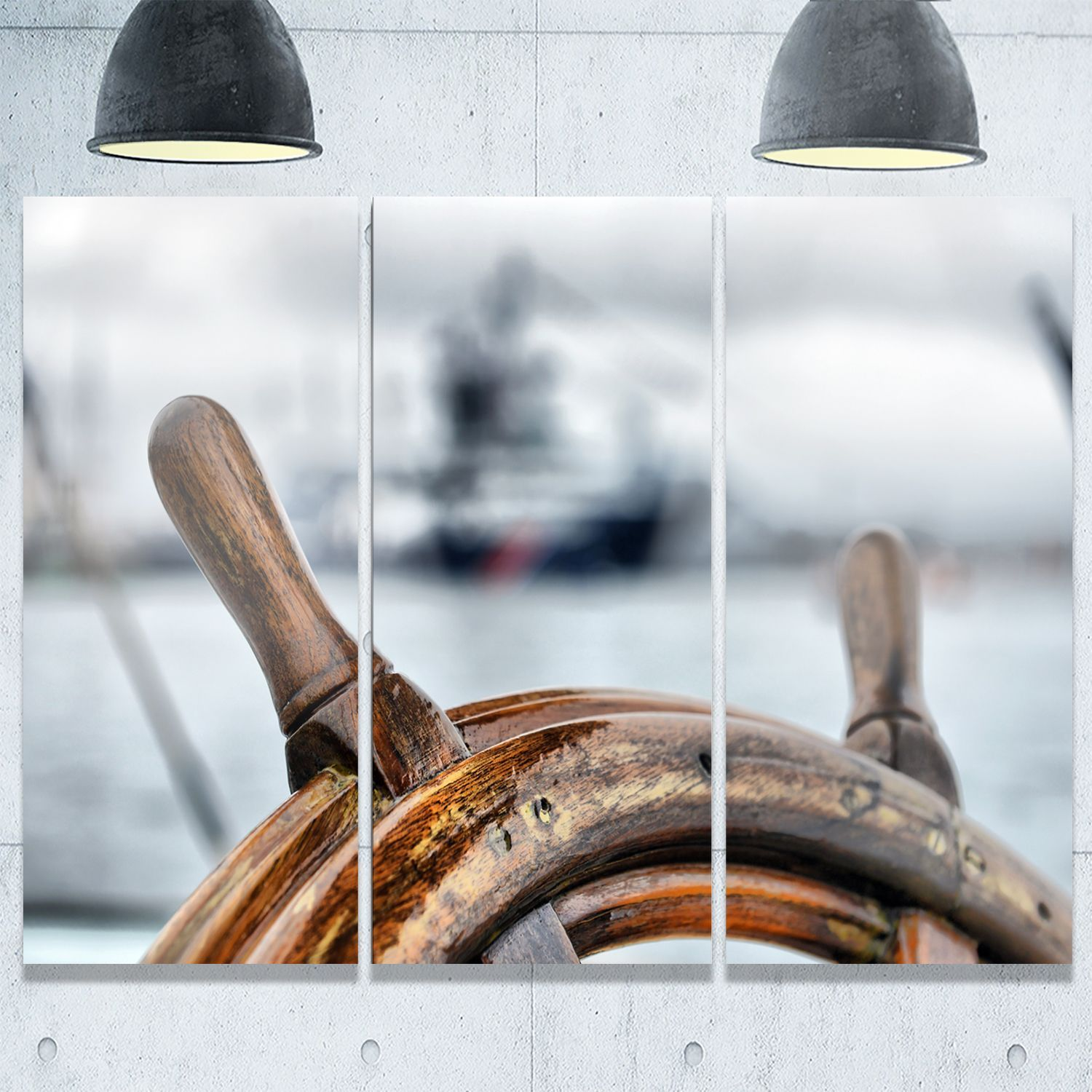 Bring contemporary to your home with this large photography metal