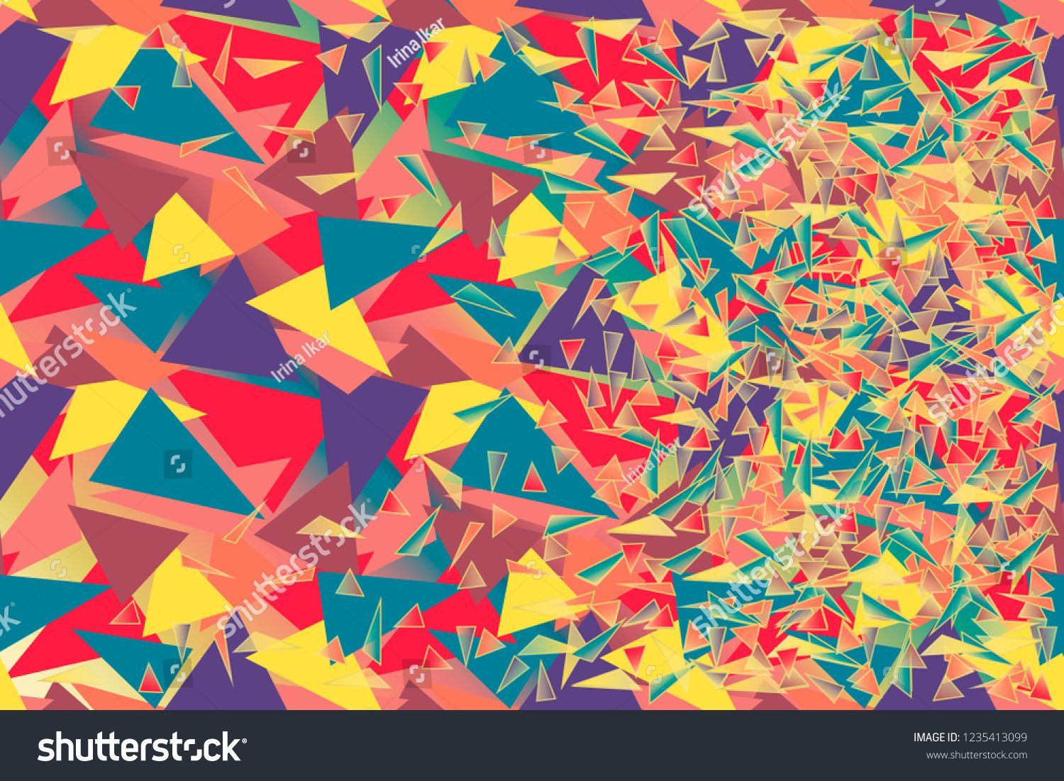 Vector Abstract Geometric Background Chaotic Multitude Of Bright