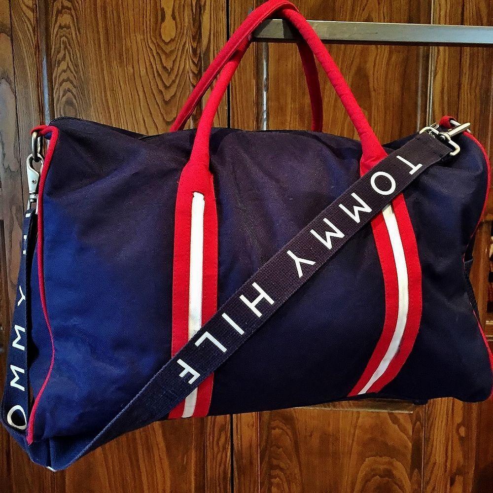 Vintage Tommy Hilfiger Duffle Travel Bag Mid Size Duffel