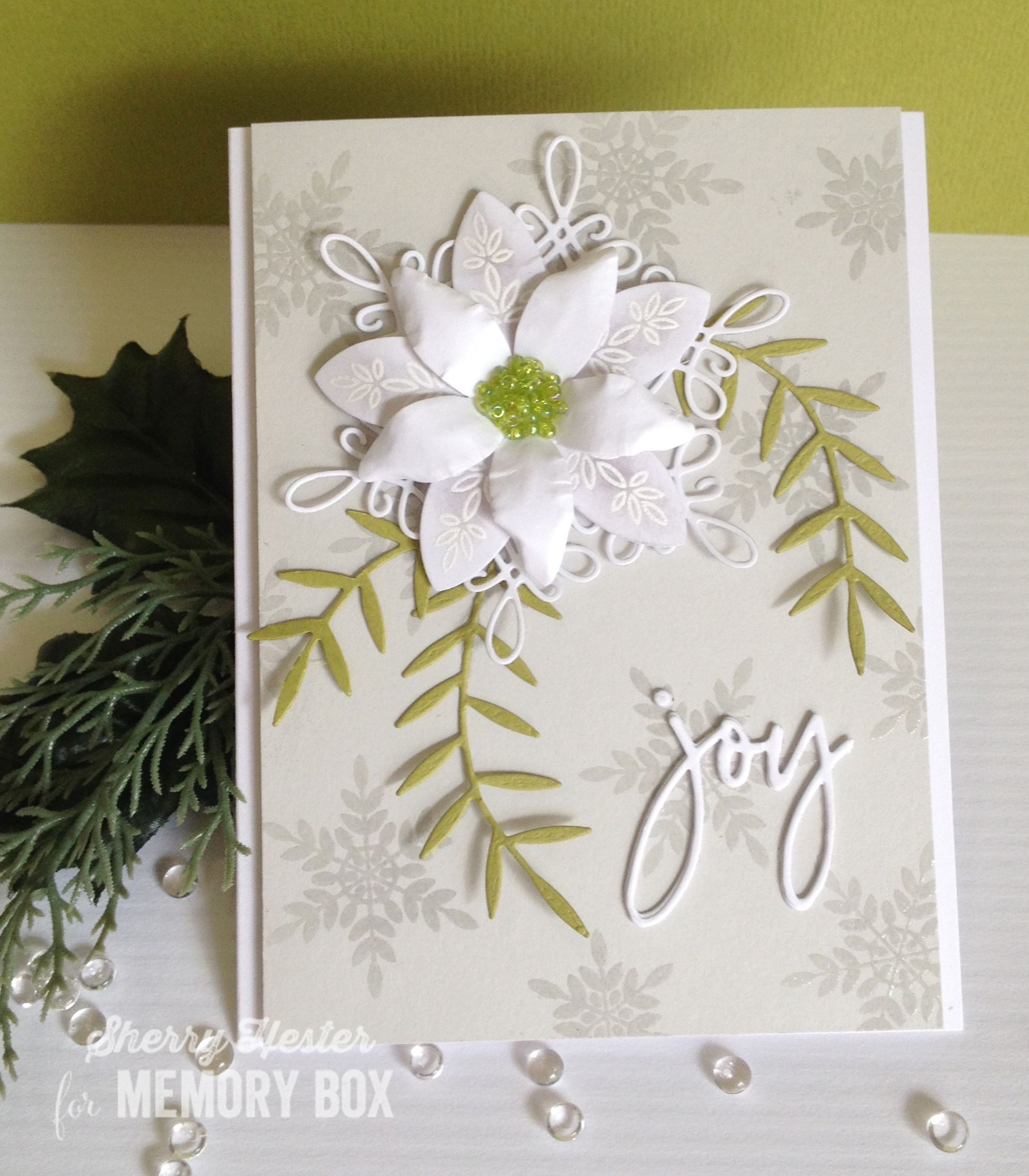 Poinsettia and Snowflakes by Sherry Hester