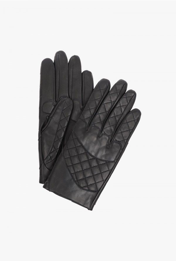 Quilted leather gloves   Mens Gloves   Balmain   woolies ... : quilted leather gloves mens - Adamdwight.com