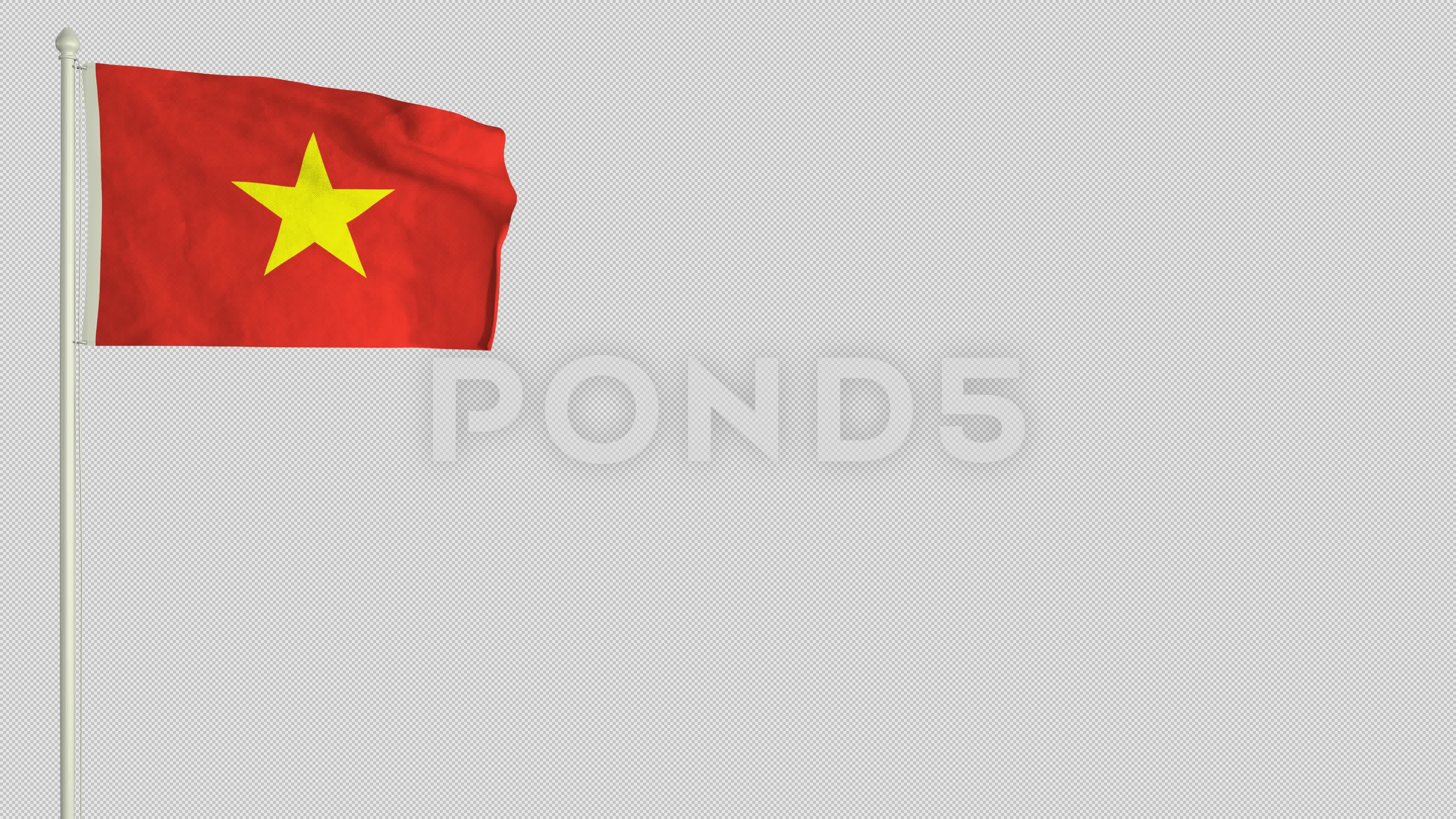 Vietnamese Flag Waving In The Wind With Png Alpha Channel Stock Footage Waving Wind Vietnamese Flag Vietnamese Flag Alpha Channel Vietnamese