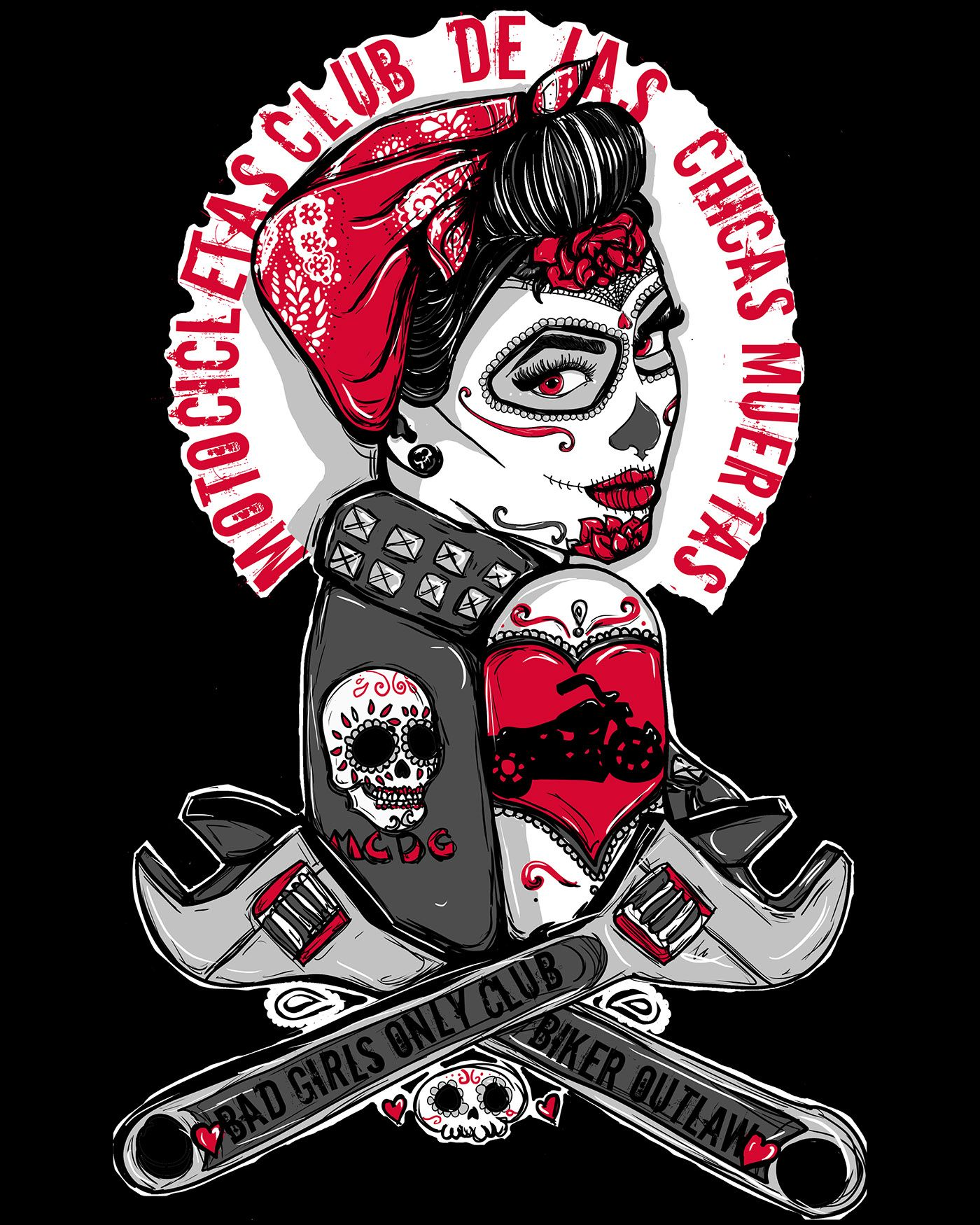Day of the dead girl flash