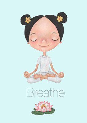 yoga breathesprestonillustration on etsy  yoga yoga