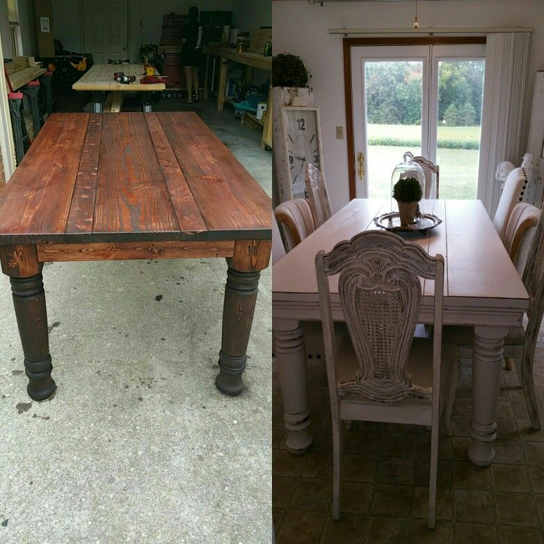 7 ft primitive farmhouse table by 415 inch wide crown