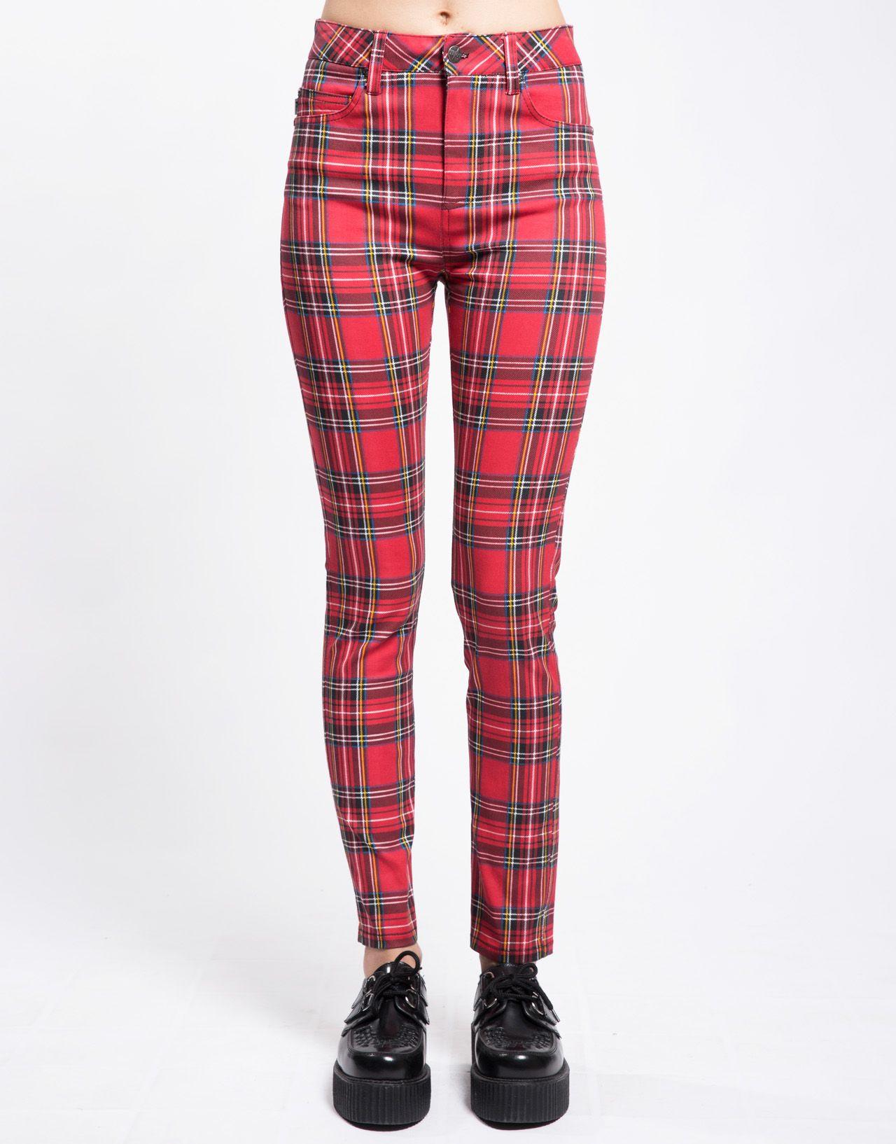 e097633030 Tripp NYC tartan jeans   clothes   Red plaid, Plaid, Jean Shorts