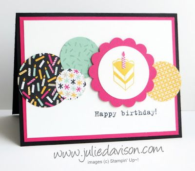 Party With Cake Birthday Card Sketch Challenge Reminder Julie S