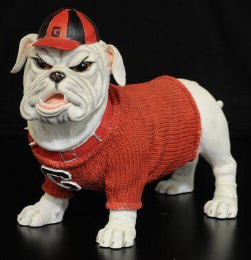 Georgia Bulldogs Figurine Figurine Stands Approximately 9 Tall