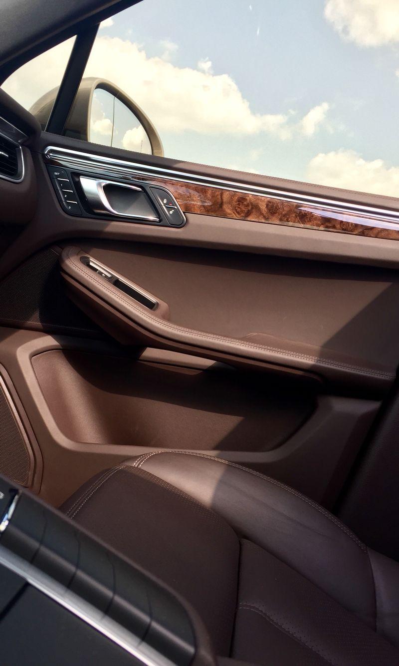 Porsche Macan Leather Espresso Interior Wood Car Dark Brown