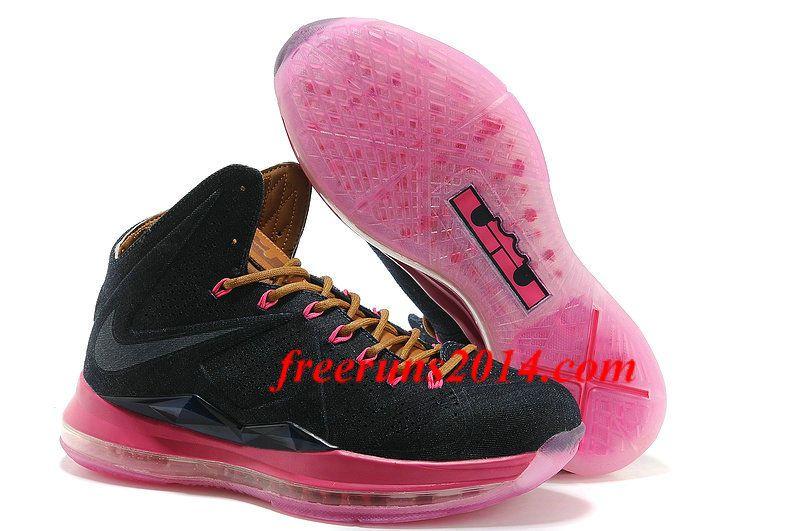 02b3f545e2061 Mens Nike Lebron X 10 EXT QS Cork Black Pink Shoes