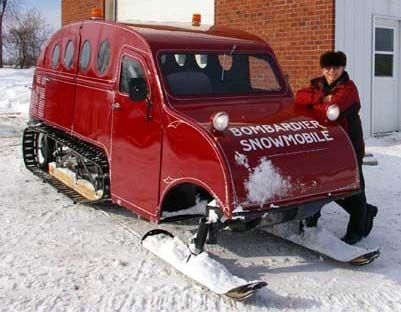 snowmobile car | Just a car guy : Bombardier B-12 snowmobile | Snow