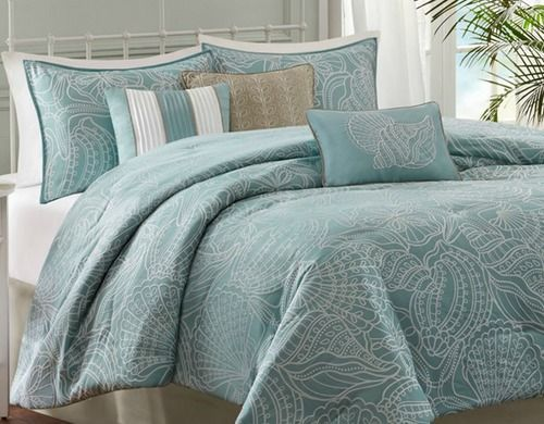 Bring The Seaside Style Indoors With The Carmel By The Sea Blue 7 Piece Comforter Collection This Coast Blue Comforter Sets Comforter Sets King Comforter Sets