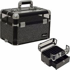 Black Nail Polish Opi Manicure Pedicure Organizers Storage Accessories Case Box