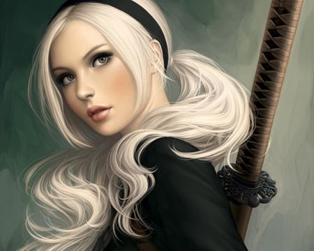 pin silver-haired beauty