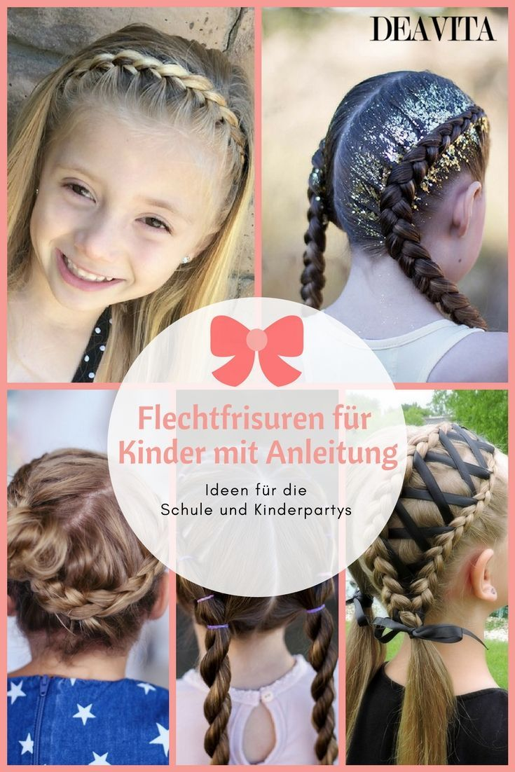 Braided hairstyles for kids with instructions - perfect for school and kids parties  #braided #hairstyles #instructions #parties #perfect #school