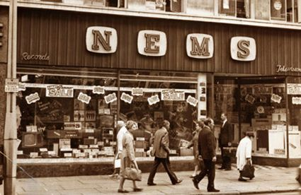 North End Music Stores, 'The most efficient music shop in the North West'. Home to budding pop svengali and 'fifth Beatle' Brian Epstein.