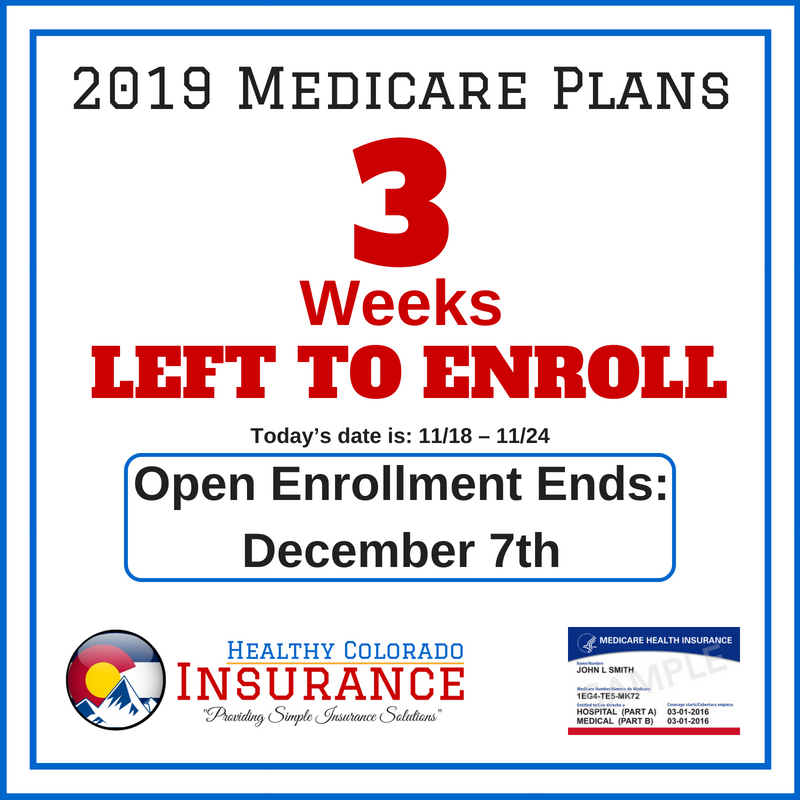 It Is The Medicare Annual Enrollment Period You Have 3 Weeks To
