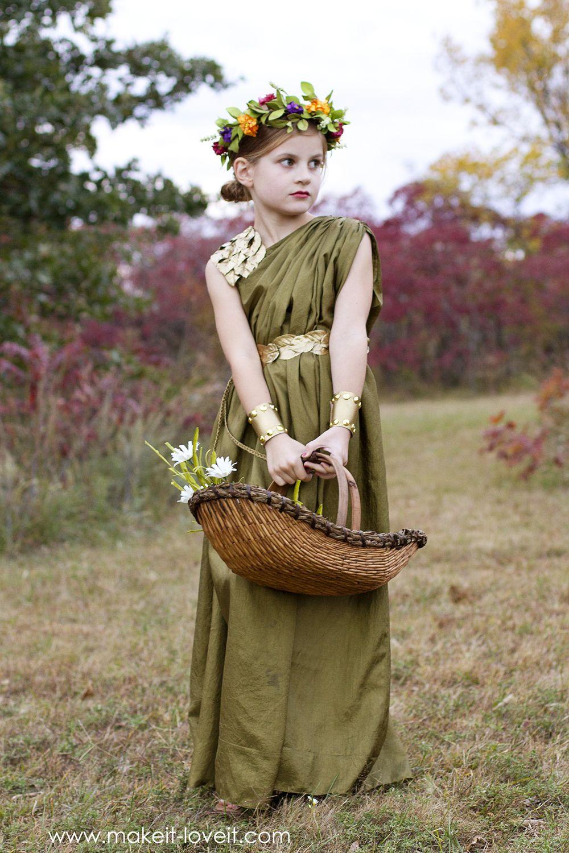 DIY Greek Goddess Costume: DEMETER | Greek goddess costume ...