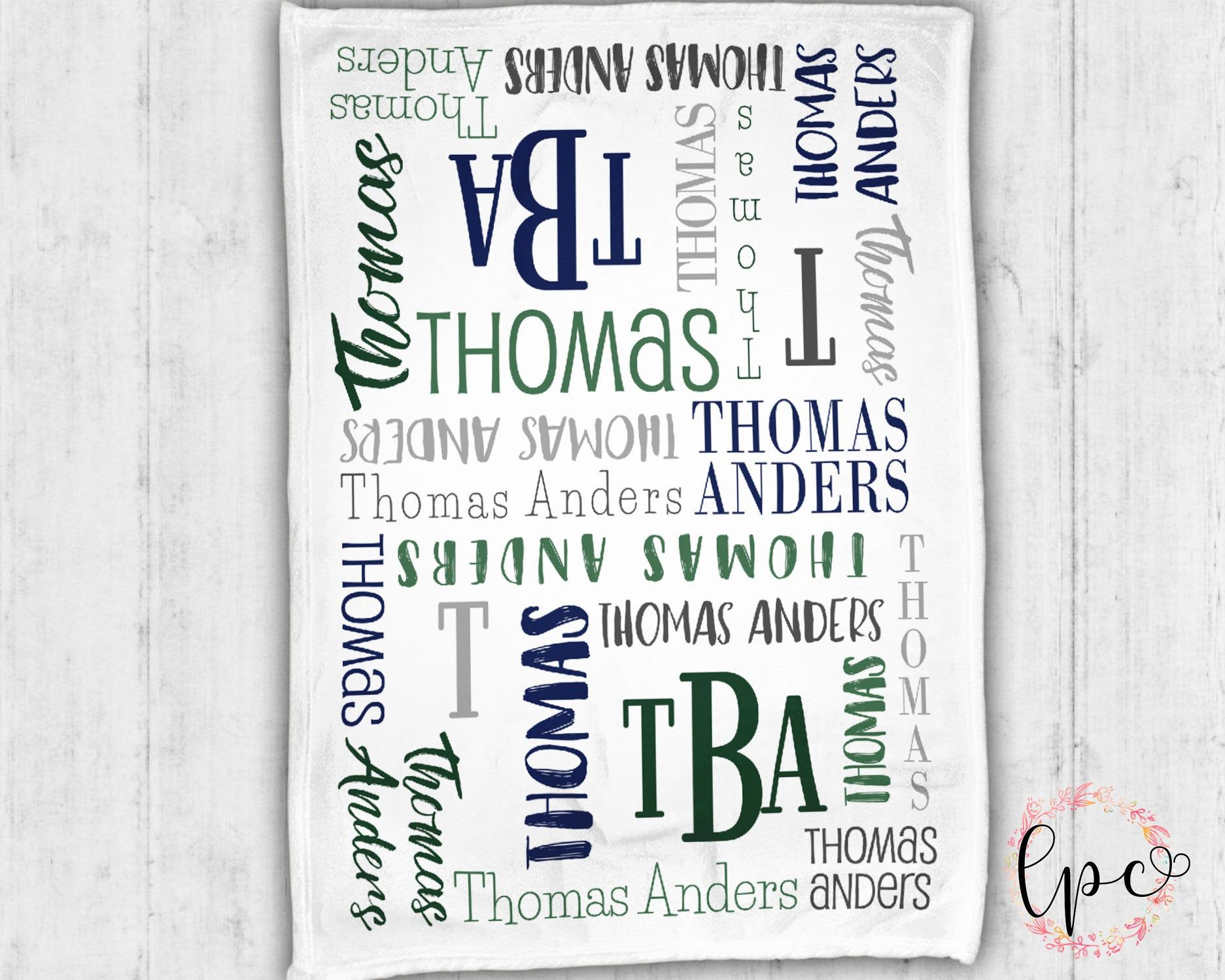 Personalized Baby Name Blanket - Baby Blanket - Name Pattern Blanket - Personalized Baby Blanket - Baby Shower Gift - Throw Blanket