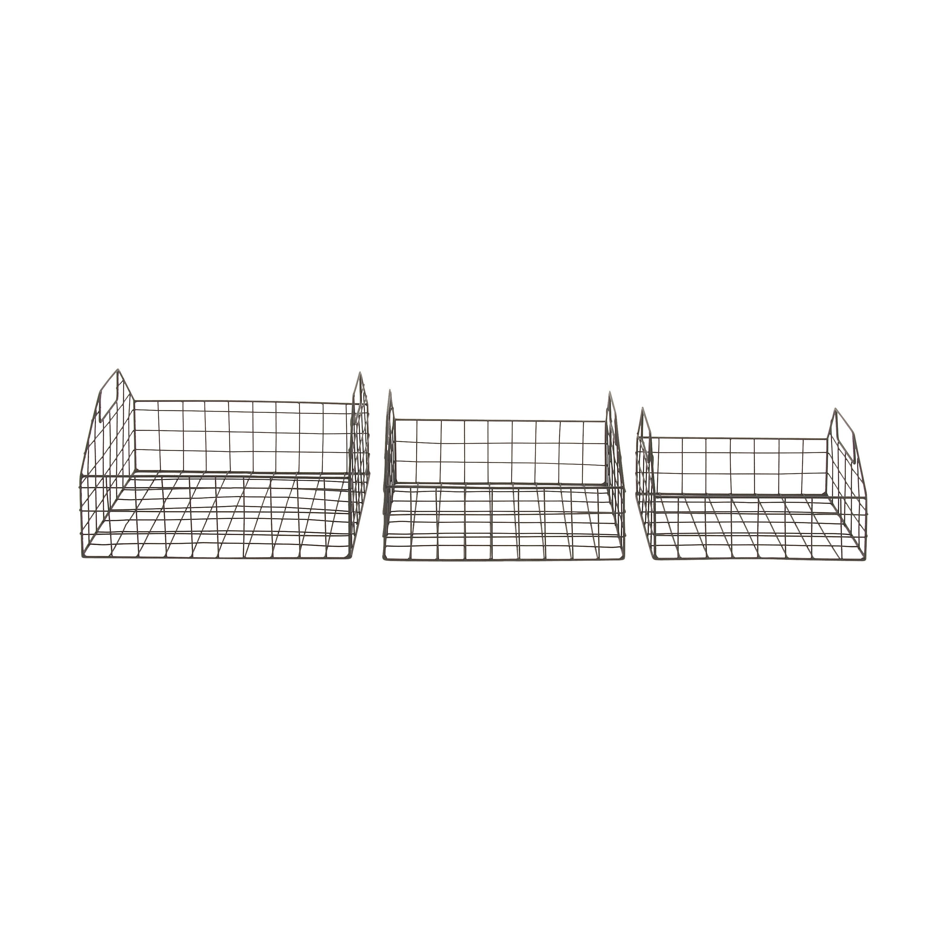 Benzara basket set of storage accessory black outlet store and