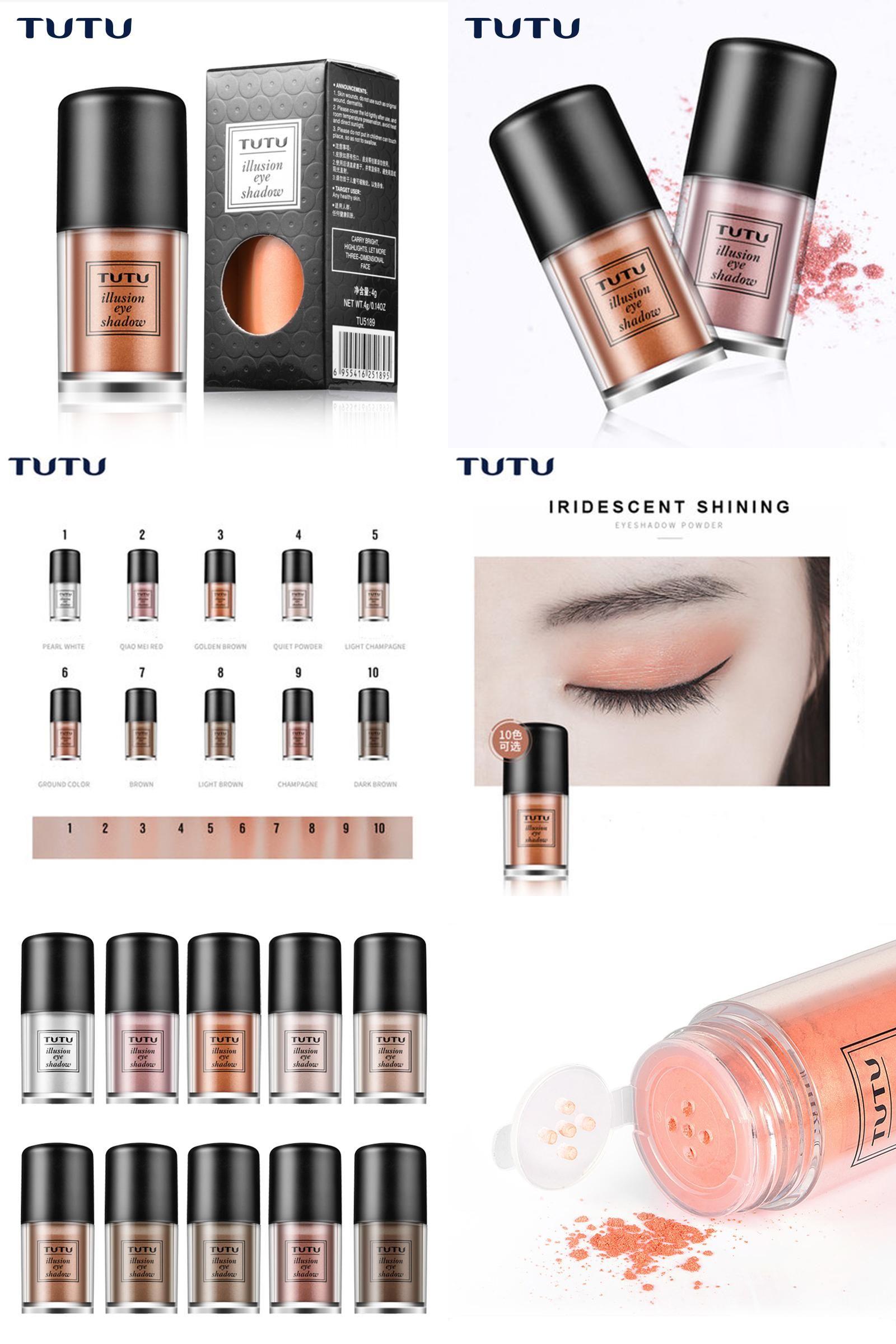 [Visit to Buy] TUTU New 10 Colors Glitter Loose Eyeshadow