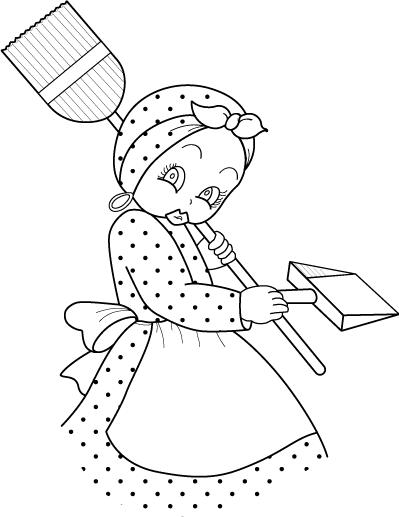 Negrita para la cocina pintar en tela pintura en tela y telas - Dibujos para pintar en tela ...