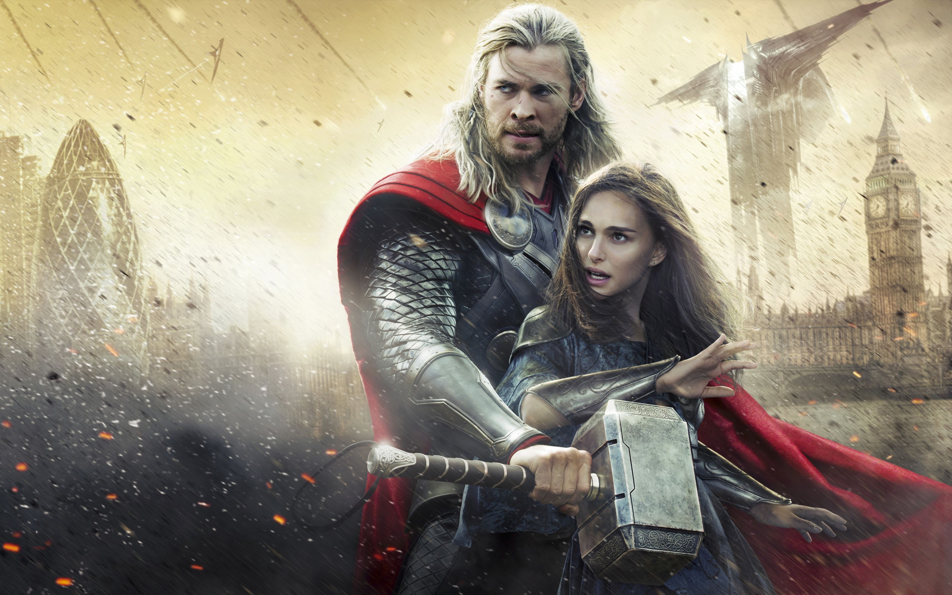 3840x2400 Wallpaper Thor The Dark World Chris Hemsworth Thor Natalie Portman Jane Foster The Dark World Adventure Movies World Movies