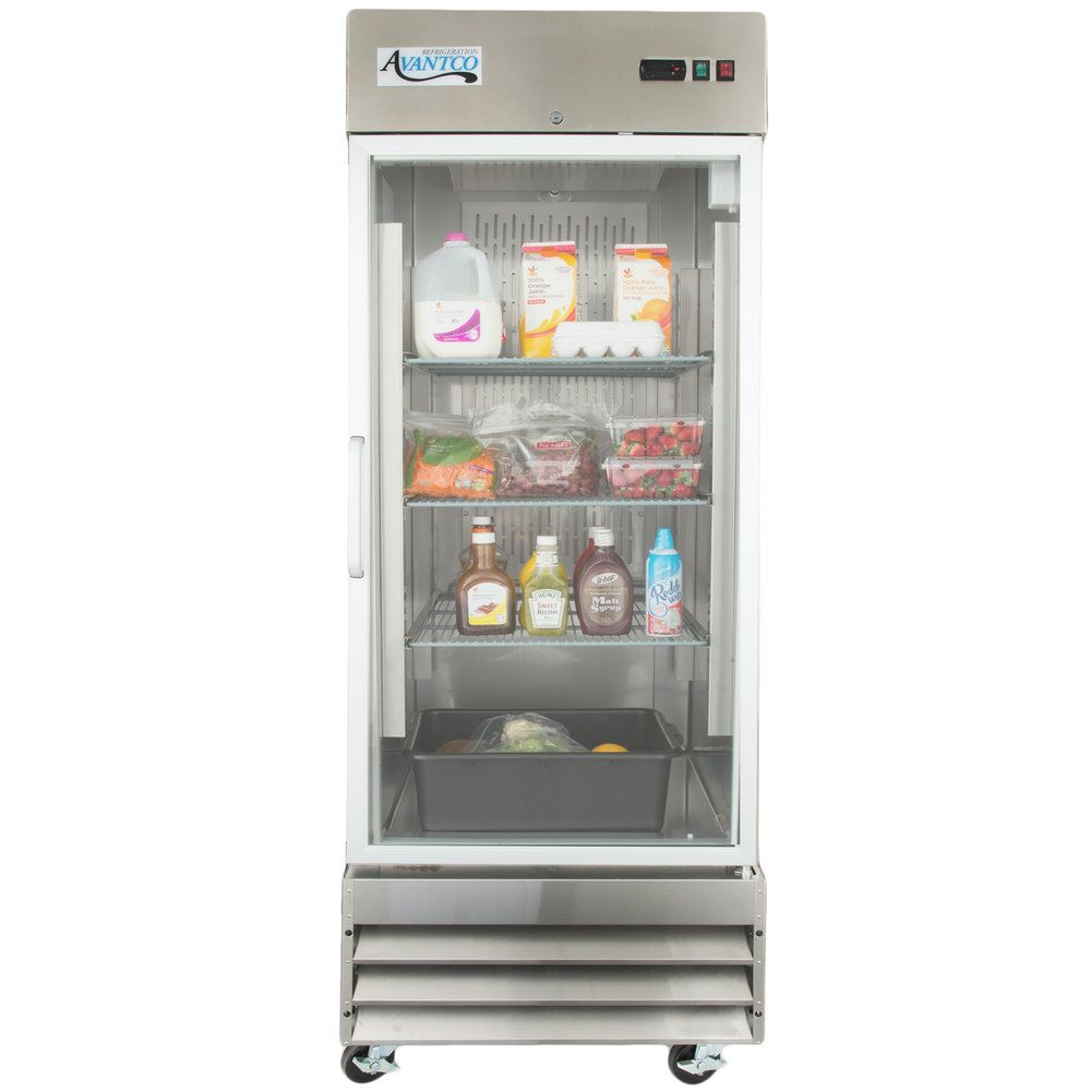 Avantco Cfd 1rr G 29 One Section Glass Door Reach In Refrigerator
