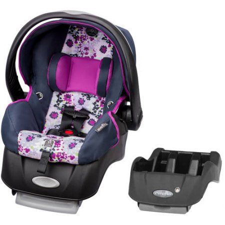 Evenflo Embrace Select Infant Car Seat With Sure Safe Installation Florence Bonus Base White