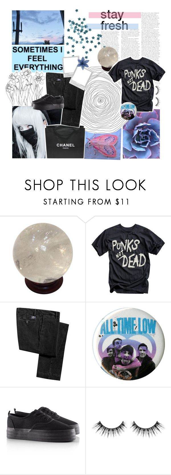 """""""Paradise"""" by amberishdead ❤ liked on Polyvore featuring Chanel, Hot Topic, H&M and Glamour Status"""