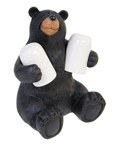 Sitting Black Bear 3 Piece Salt & Pepper Shaker Set
