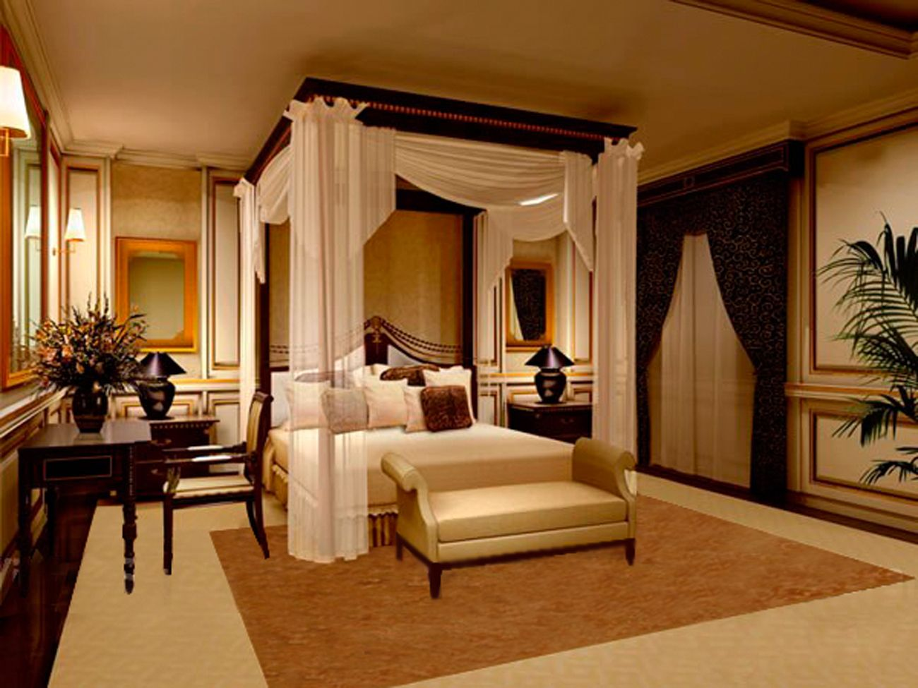 nice romantic luxury bedroom with curtains for master bed rh pinterest com Rustic Master Bedroom Luxury Master Bedroom Designs