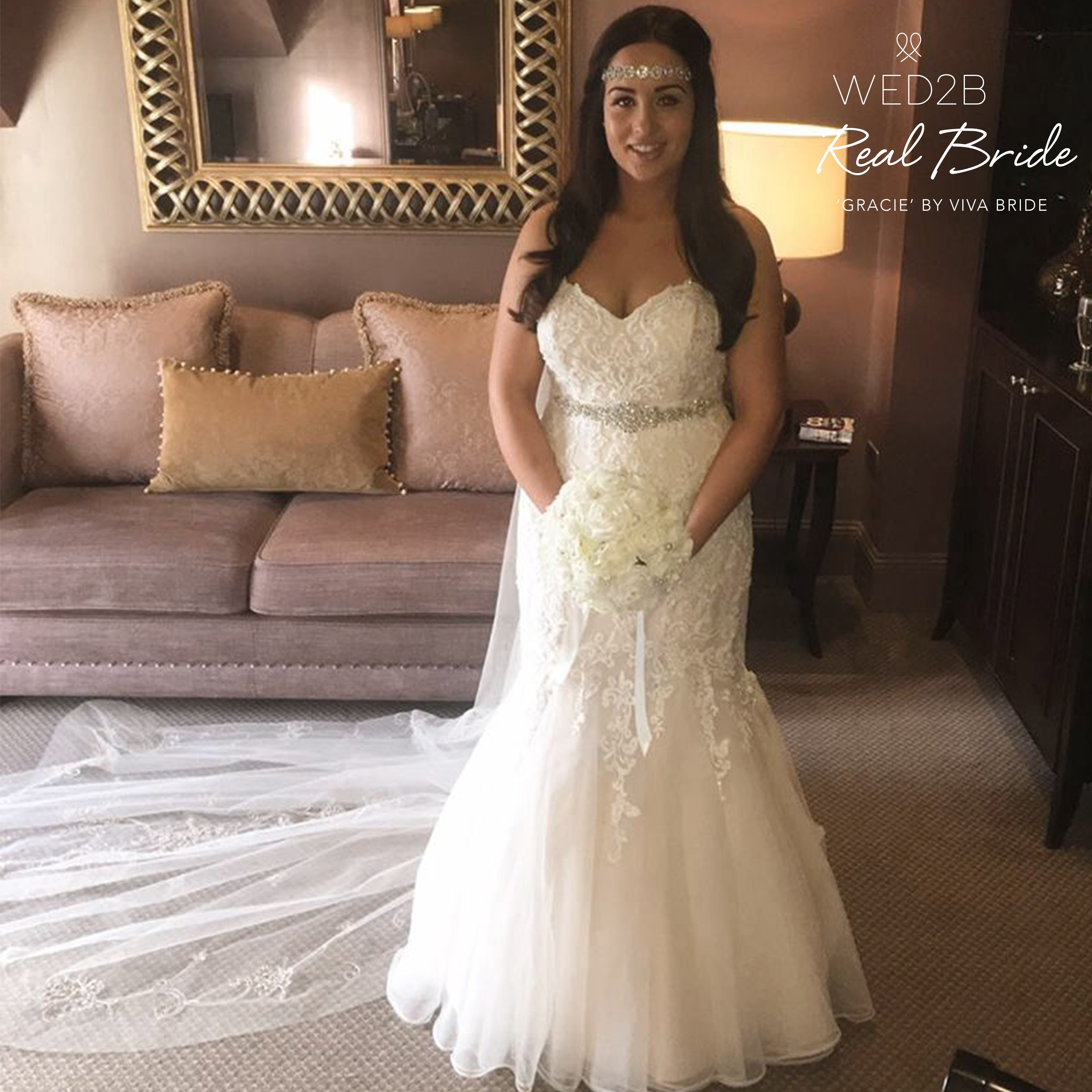 Real Brides Wed2b: Stunning Real Bride Claire Looks Amazing In 'Gracie' By