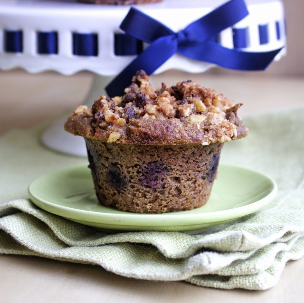 Paleo Blueberry Streusel Coffee Cake Muffins Aip Coconut Free Banana Green Plantain Dates