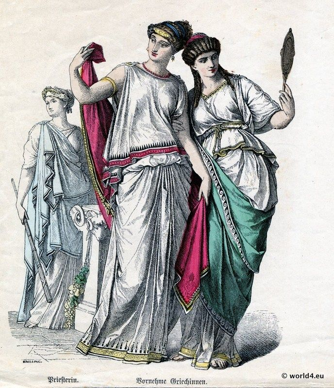 Greece Priestess, The Ancient Greek Costume. | Medieval ...