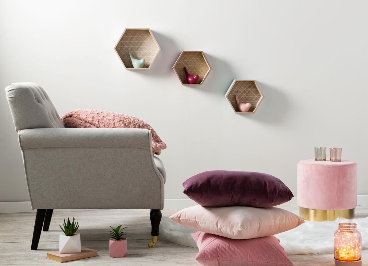 Inspiration #déco #scandinave : du #gris, du #rose et une touche