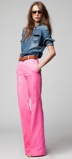 Fuchsia wide leg pants | dsquared