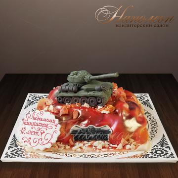 Детский торт с танком № 267 Д | Идеи для блюд, Детский ...