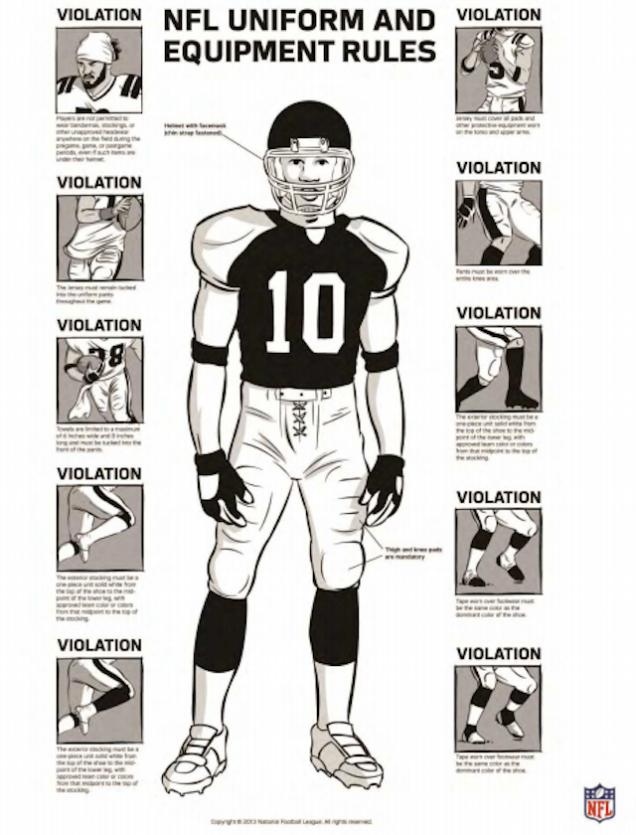 Diagram Of Football Uniform - Online Schematic Diagram •