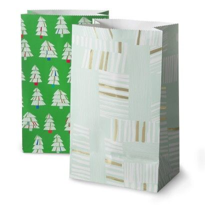 Oh Joy! Green Trees and Abstract Stripe Favor Bags 20ct