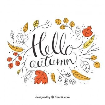 Hello autumn background with leaves #helloautumn