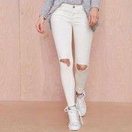 Spodnie Jeansy Rurki Czarne Z Dziurami Na Kolanach 5231204006 Oficjalne Archiwum Allegro Pants For Women Pants Clothes