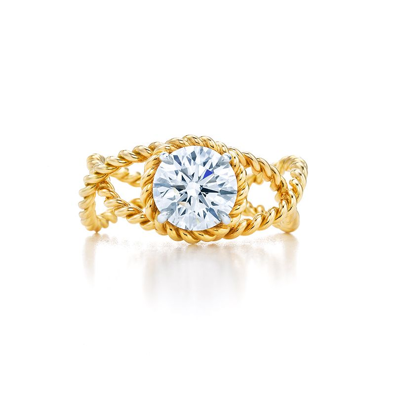 21ce875fc347b Tiffany & Co. Schlumberger® Rope engagement ring in 18k gold with a ...