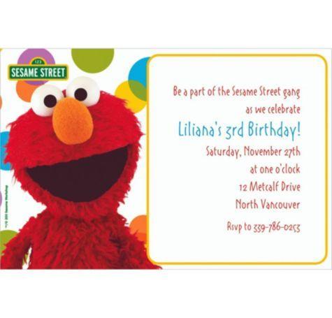 Sesame Street Custom Invitation