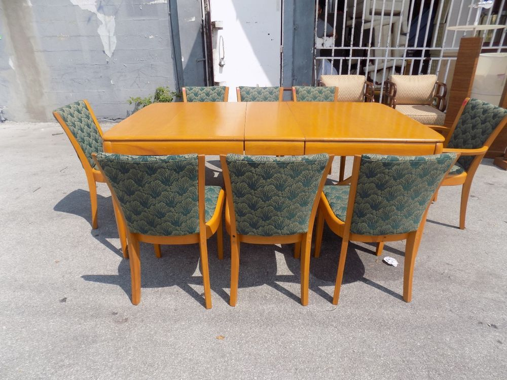 VINTAGE HEYWOOD WAKEFIELD DINING ROOM SET FROM RALEIGH HOTEL MIAMI BEACH Artdecostyle HEYWOODWAKEFIELD