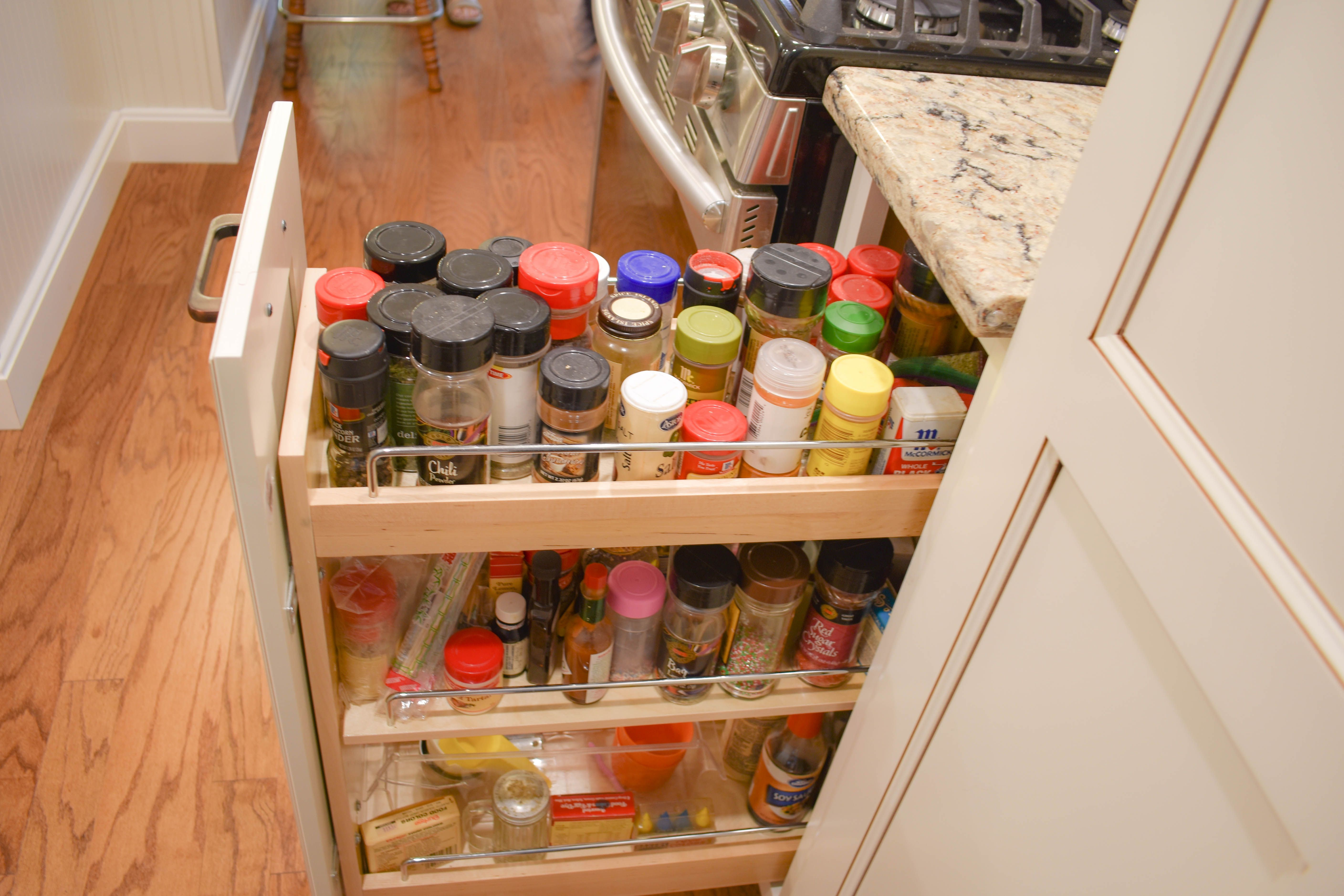 Check out this Sliding Spice rack Cabinet by Merillat ...