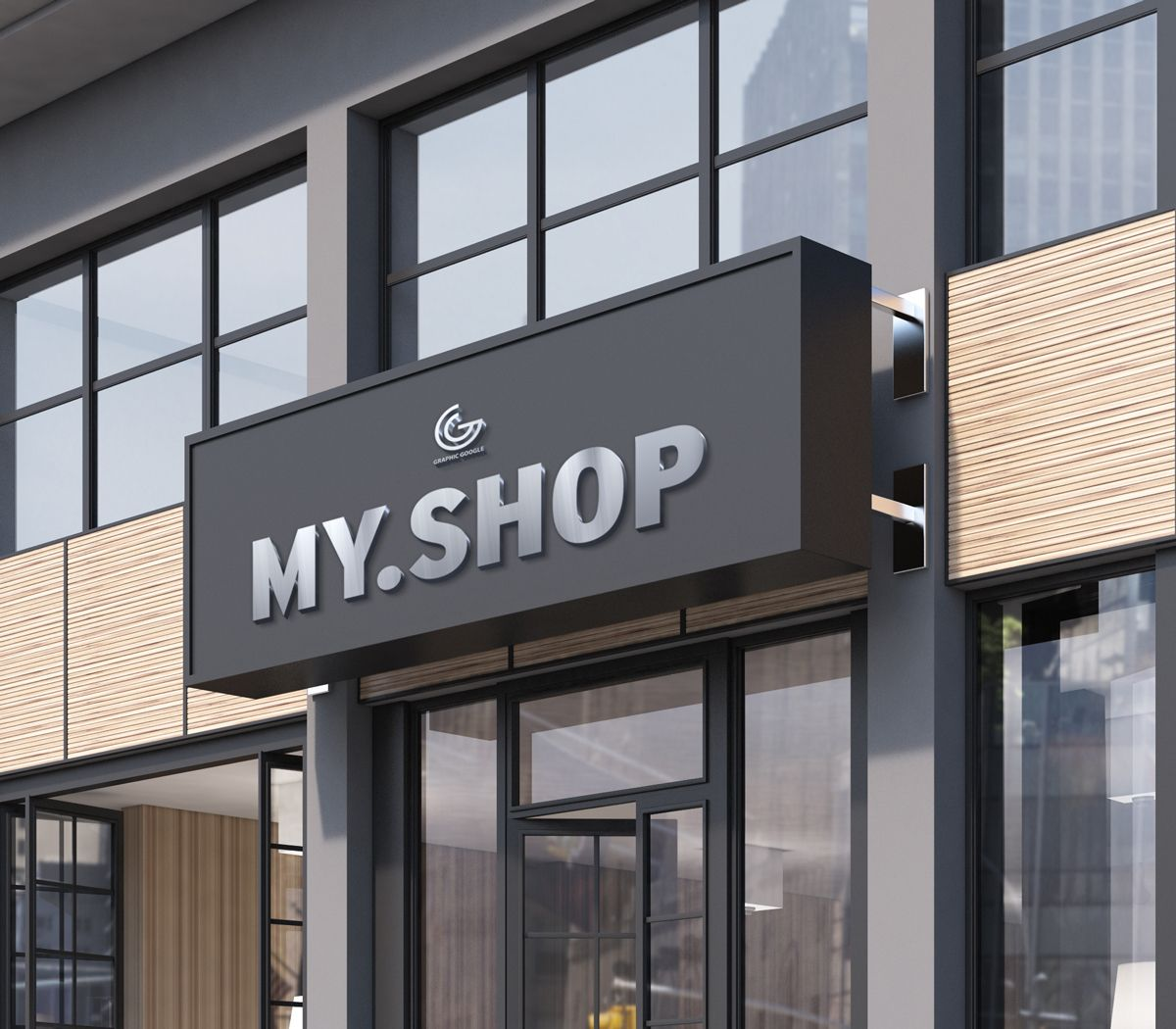 Free Shop Facade Mockup Psd 2018 Shop Facade Design Mockup Free Shop Front Design